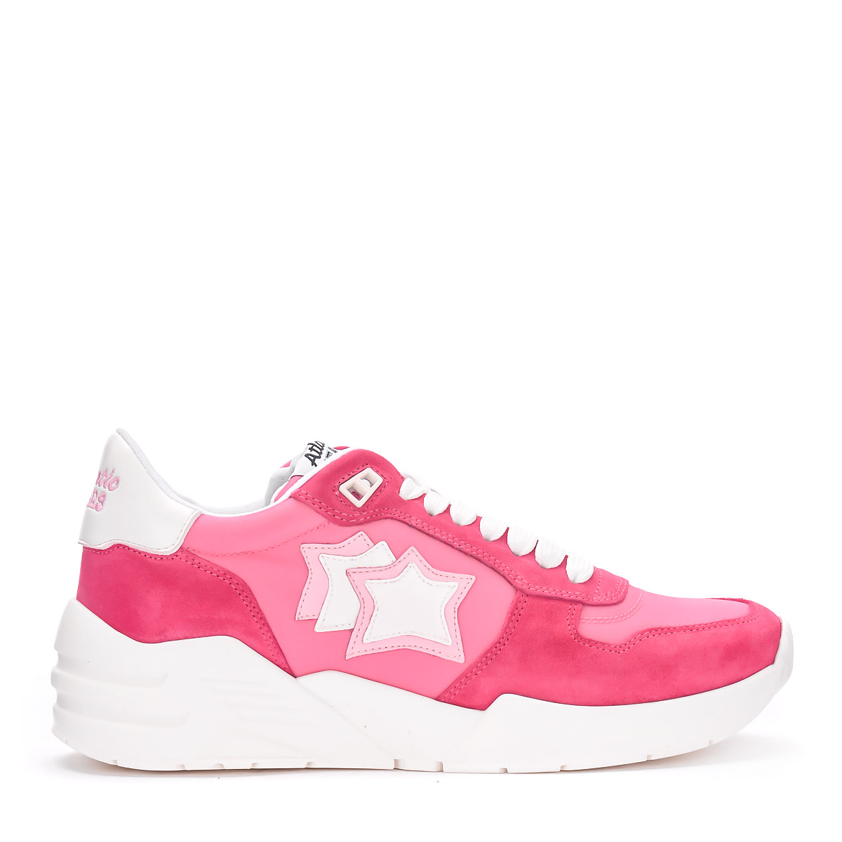 Sneaker Atlantic Stars Venus in Nubuck and pink fabric