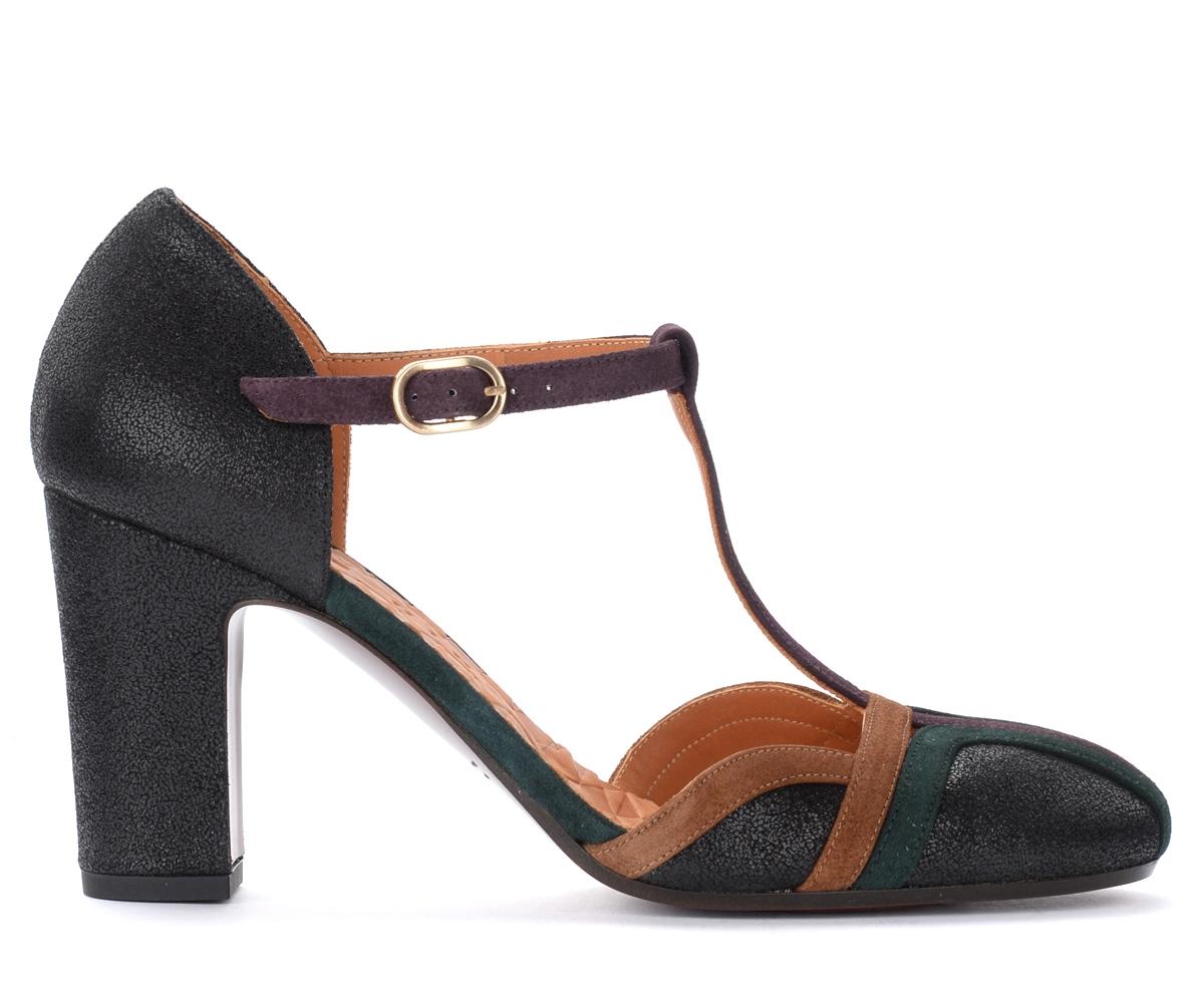 Sandales à talon Wander en cuir laminé multicolore - Chie Mihara - Modalova