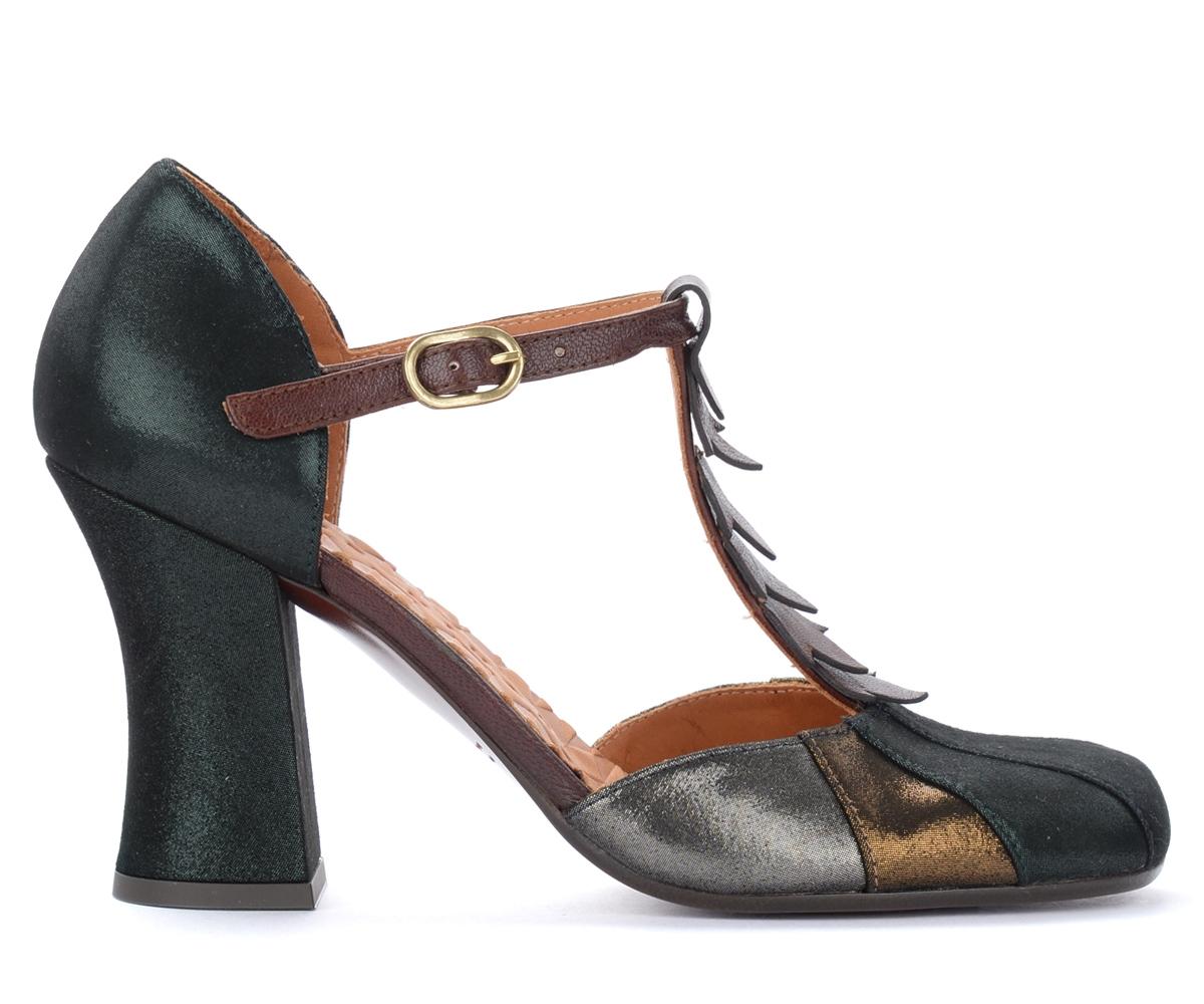 Sandales à talon Fabad en cuir laminé vert - Chie Mihara - Modalova