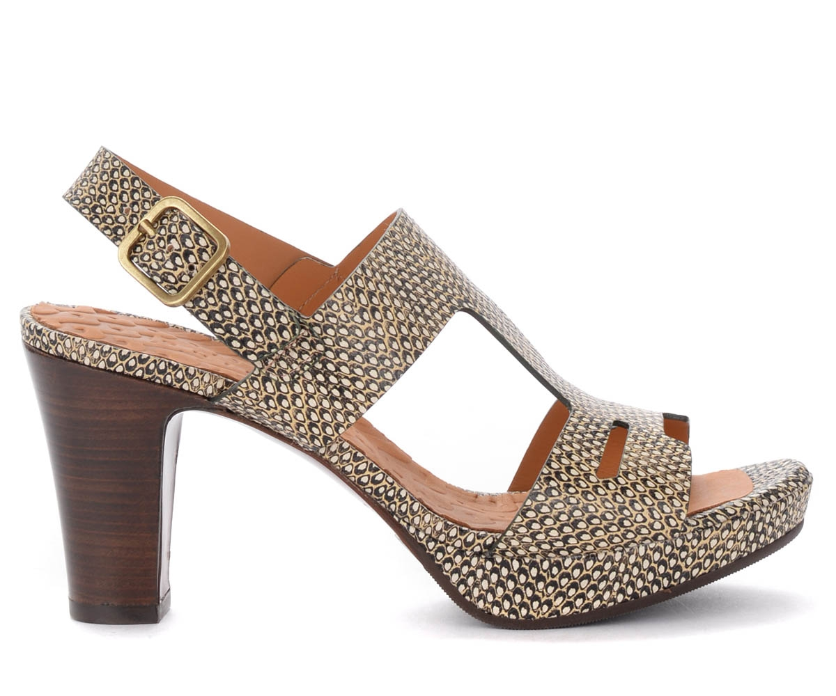 Sandale à talon Eda en cuir imprimé - Chie Mihara - Modalova