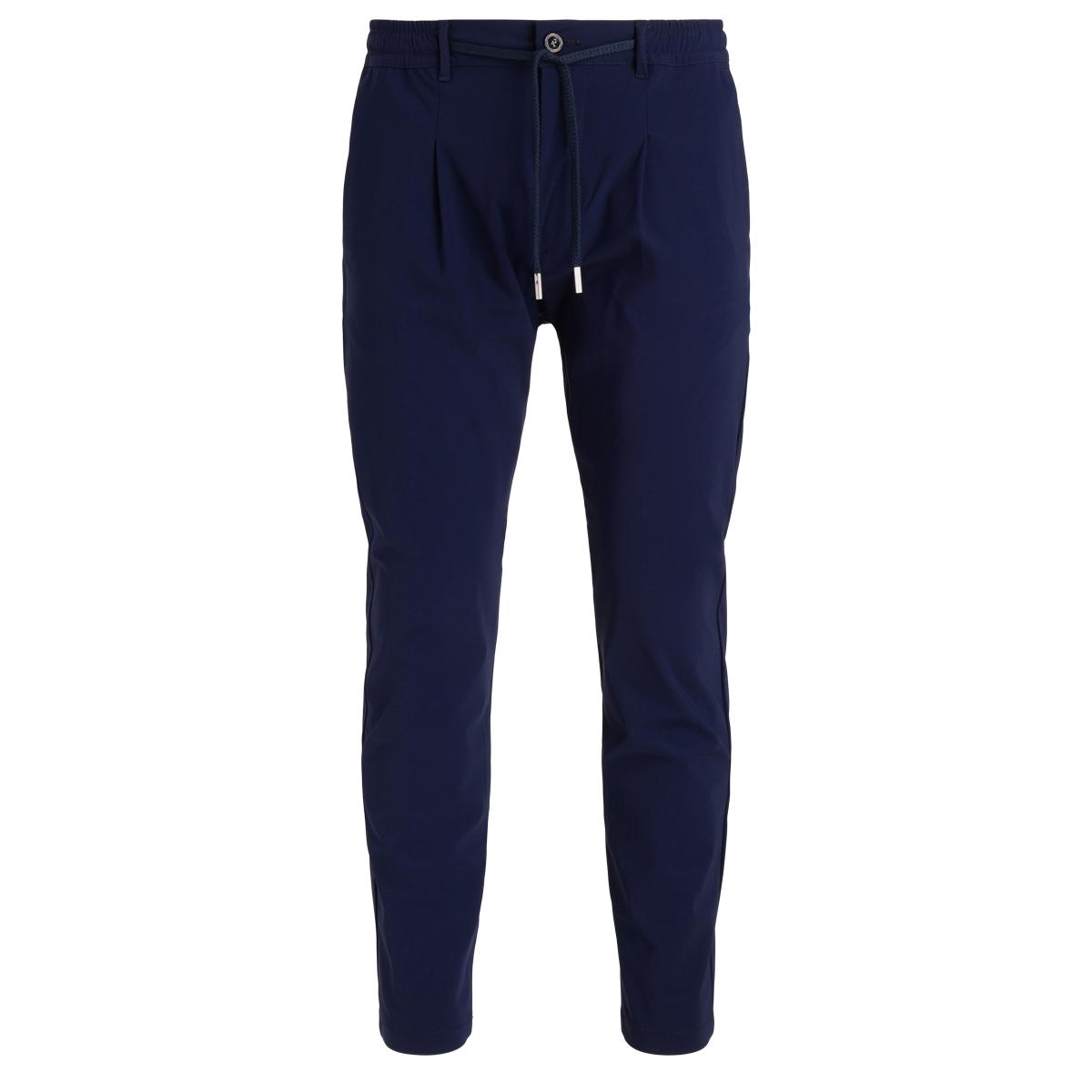 Pantalon Mitte en jersey technique bleu - CRUNA - Modalova