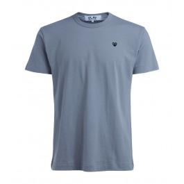 T-Shirt Comme Des Garçons PLAY grigia cuore nero