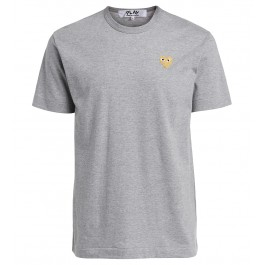 T-shirt Comme des Garçons Play girocollo grigio melange