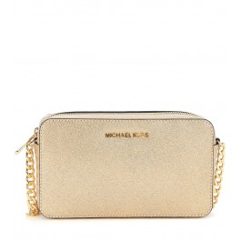 Pochette con tracolla Michael Kors Jet Set Travel in pelle oro