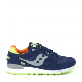 Sneaker Saucony Shadow 5000 in suede e nylon blu