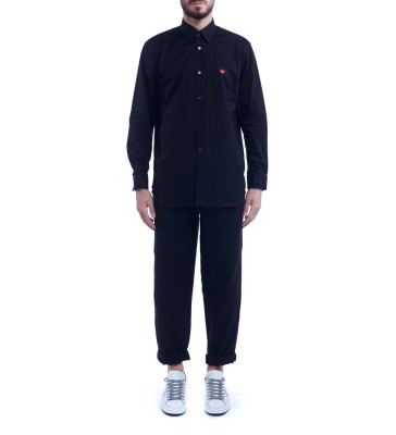 Laterale Camicia Comme Des Garcons PLAY di colore nero