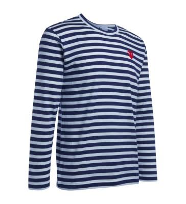 Laterale T-Shirt Comme Des Garçons PLAY da uomo a righe