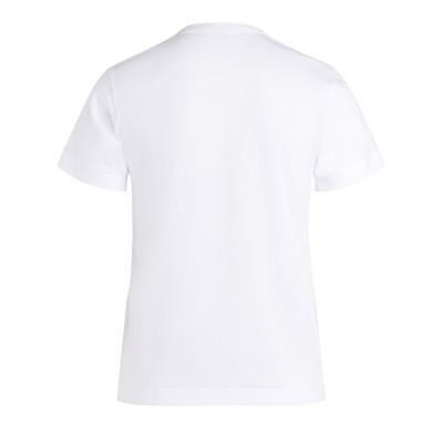 Laterale T-Shirt Comme Des Garçons PLAY bianca con cuore rosso