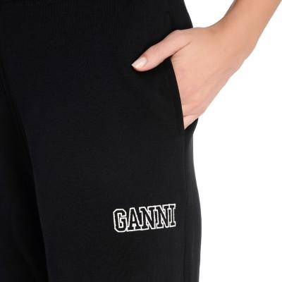 Laterale Pantalone jogging Ganni Software nero
