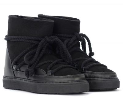 Laterale Stivaletto Inuikii Sneaker Classic in cuoio scamosciato nero