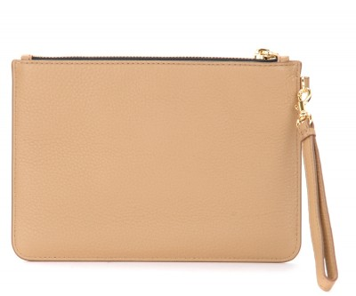 Laterale Pochette The Marc Jacobs The Softshot in pelle beige