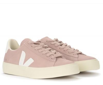 Laterale Sneaker Veja Campo Chromefree in nubuck rosa