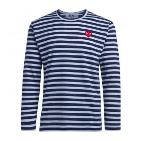 T-Shirt Comme Des Garçons PLAY da uomo a righe