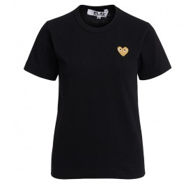 T-shirt Comme des Garçons Play girocollo nera
