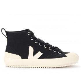 Sneaker alta Veja Nova da uomo in cotone organico nero