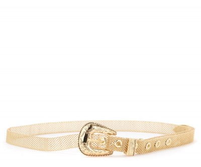 Cintura B-Low the Belt modello Baby Frank Mesh oro
