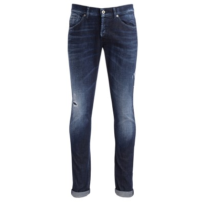 Jeans Dondup George blu con micro rotture