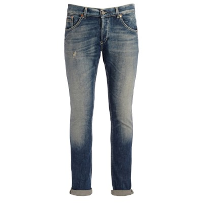 Jeans DonDup Ritchie in cotone blu lavato effetto vintage