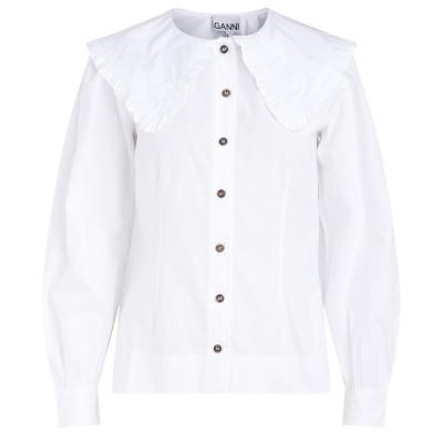 Camicia Ganni bianca con maxi colletto