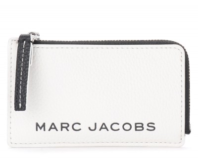 Portatessere The Marc Jacobs The Colorblock Small Top Zip bianco e nero