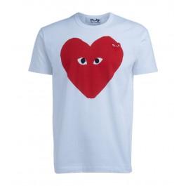 T-Shirt Comme Des Garçons PLAY bianca cuore rosso