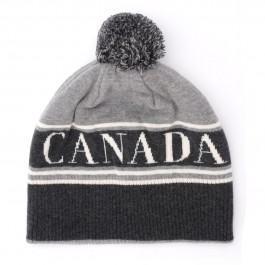 Canada Goose cap in gray wool with pompom