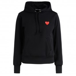 Comme Des Garçons Play black fleece with red heart