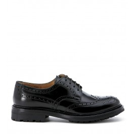CHURCH'S ETHEL2 LACE-UP BLACK LEATHER