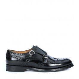 Church's Lana r loafer in black leather with double monk strap