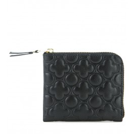 Comme des Garcons black leather wallet