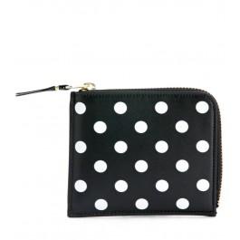Comme Des Garçons Wallets rectangular black and white polka dots nera purse