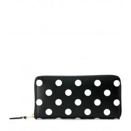 Comme Des Garçons black and white polka dots wallet