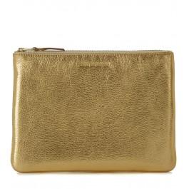 Pochette Wallet Comme des Garçons in pelle oro