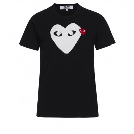 Black T-shirt Play by Comme de Garcon with white heart