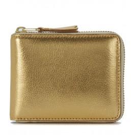 Comme Des Garçons golden leather wallet