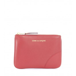 Comme des Garçons Wallet in red calf leather