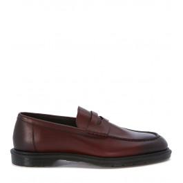 Dr. Martens loafer model Penton in red bordeaux leather