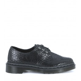 Dr Martens Core Tahan black python suede shoes