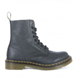 Dr Martens Pascal lace ankle shoes in black nappa cow leather