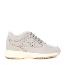Sneaker Hogan Interactive in grey stone nabuk