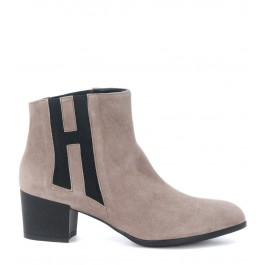 Hogan ankle boots in dove grey suede