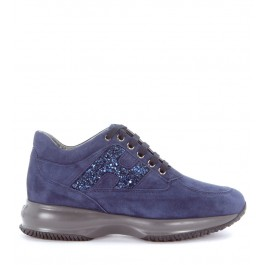 Hogan Interactive Sneaker in dark blue suede