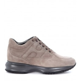 Hogan Interactive Sneaker in dove grey suede