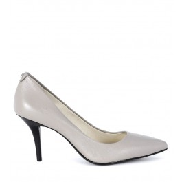 Michael Kors Mid Pump grey tumbled leather decollete'