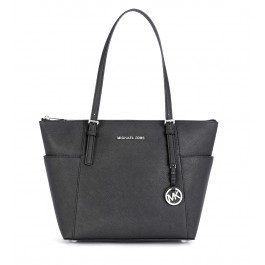Michael Kors Jet Set Item shopping bag in black saffiano leather