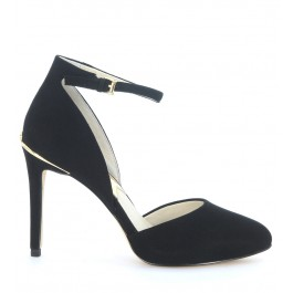 Georgia Ankle Strap Michael Kors black suede decolleté