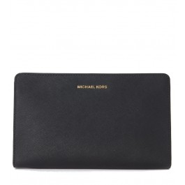 Michael Kors LG pochette in black saffiano leather with shoulder strap