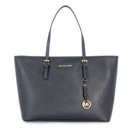 Michael Kors Jet Set Travel black shopping travel bag