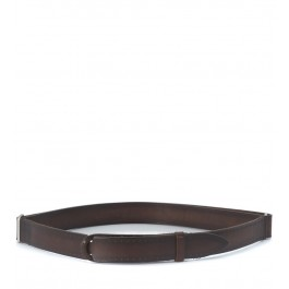 Orciani No Buckle brown washed lasered leather belt