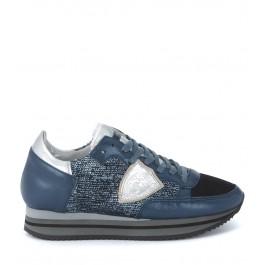 Philippe Model Tropez Higher blue sneaker